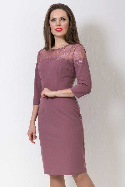 Платье с кружевом, П-560